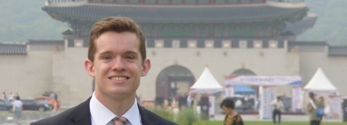 This photo was taken in front of Gwanghwamun Palace during my time as an intern for the US Embassy in Seoul