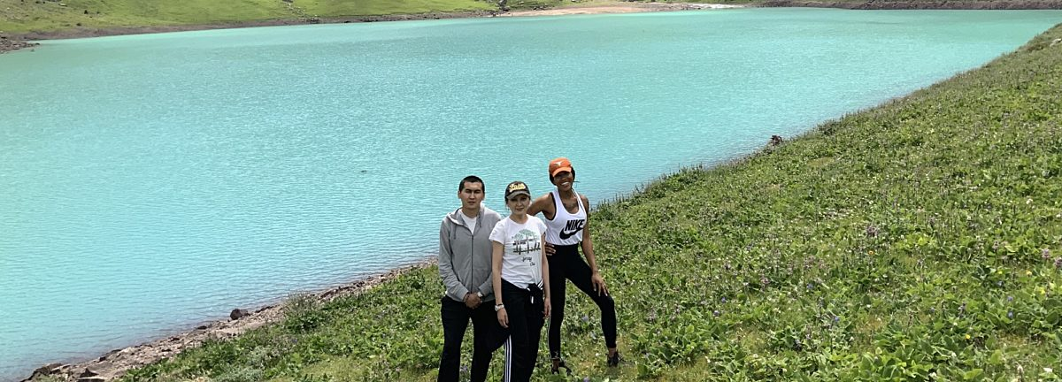 With host family at Kol-tor Lake